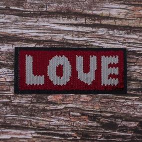Аппликация Love 14,8*6,2 см фото