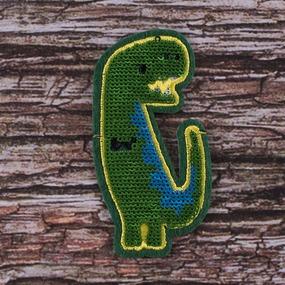 Аппликация Динозавр 4,5*8,5 см фото