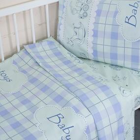 Постельное белье в детскую кроватку с простыней на резинке KT22 сатин фото