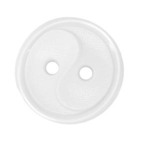 Пуговицы РП-14 2-х прокол 14 мм 51800 цвет белый упаковка 100 шт фото