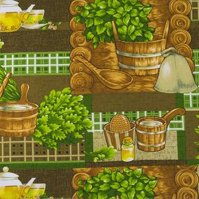Полотенце вафельное банное 150/75 см 10769-1 Банька фото