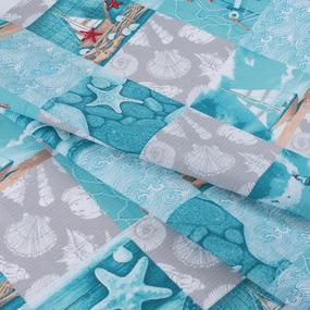 Полотенце вафельное пляжное 3012-2 Маяк 150/75 см фото