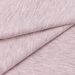 Ткань на отрез кулирка кармеланж М-2007 цвет розовый фото
