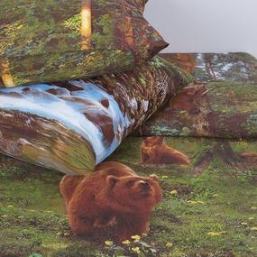 Постельное белье бязь Хозяин тайги с 3D эффектом Семейный фото