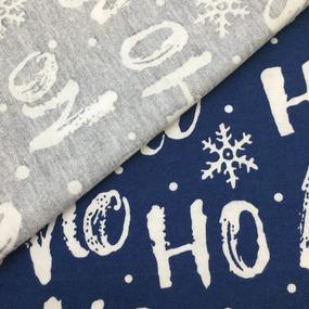 Ткань на отрез кулирка R1405-V1 Ho ho цвет синий фото