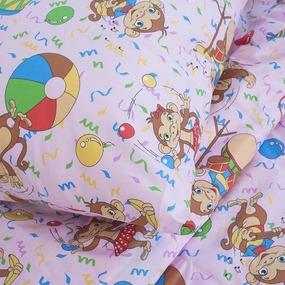 Детское постельное белье из поплина 1.5 сп 1615/3 цвет розовый фото