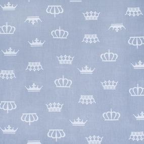 Мерный лоскут бязь плательная 150 см 1694/17 цвет серый 1.1 м фото