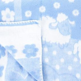 Одеяло детское байковое жаккардовое 140/100 см голубой фото
