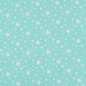 Поплин 150 см 433/16 Звездочка цвет мята фото