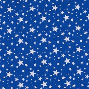 Поплин 150 см 433/21 Звездочка цвет василек фото
