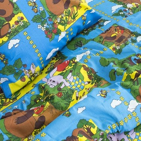 Детское постельное белье из бязи 1.5 сп 820/1 Винни Пух синий фото