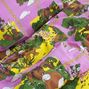 Детское постельное белье из бязи 1.5 сп 820/2 Винни Пух розовый фото