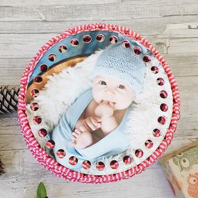 Круглое донышко с печатью Малыш 15см фото