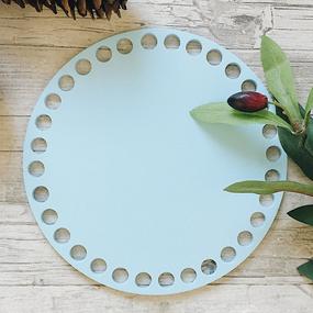 Цветное донышко для корзинки голубой круг 15см фото