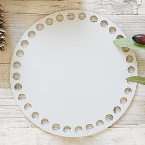 Цветное донышко для корзинки серый круг 15см фото