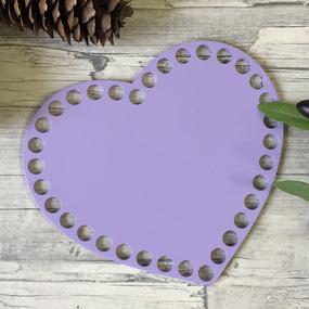 Цветное донышко для корзинки сиреневое сердце 17*14см фото