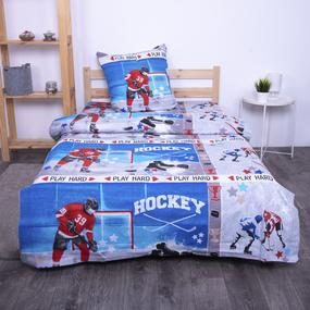 Детское постельное белье из поплина 1.5 сп 1846 Хоккей фото