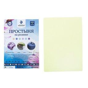 Простыня трикотажная на резинке Премиум цвет лайм 60/120/12 см фото