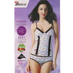 Пижама женская Indena 37013 цвет чёрный р. XXL фото