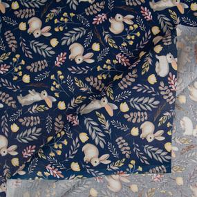 Ткань на отрез бязь плательная 150 см 2173/1 Любопытный зайка фото