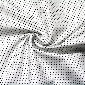 Ткань на отрез поплин 150 см 388А/25 Горошек цвет черный фото