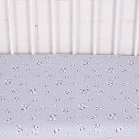 Простыня трикотажная на резинке Премиум Мишка 4082-V1 серый 60/120/12 см фото