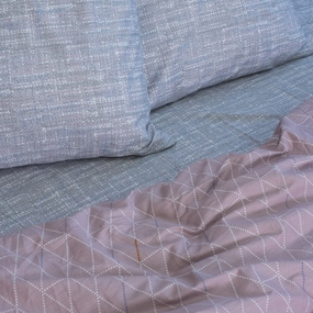 Постельное белье из сатина Е135 1.5 сп с 1 нав 70/70 фото