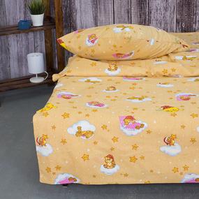 Детское постельное белье из бязи 1.5 сп 4098/1 Облачко желтый фото