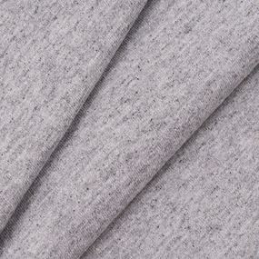 Ткань на отрез кулирка с лайкрой Melange цвет серый фото