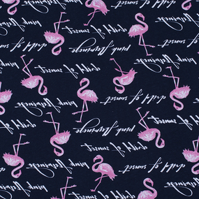 Ткань на отрез кулирка Розовый фламинго R2224-V1 фото