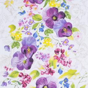 Ткань на отрез вафельное полотно 50 см 170 гр/м2 30079/1 Виола фото