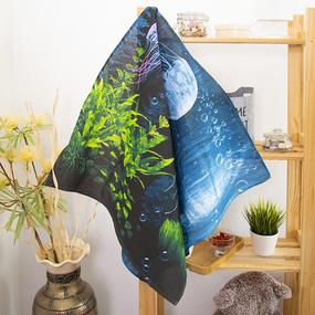 Полотенце вафельное пляжное 3089/1 Медузы 150/75 см фото