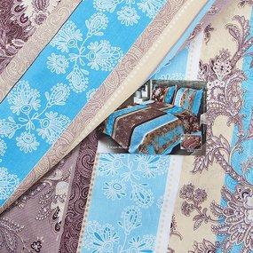 Постельное белье бязь 304/1 Ажур голубой 1.5 сп с 1-ой нав. 70/70 фото