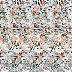 Перкаль 220 см набивной арт 239 Тейково рис 6755 вид 1 Хайп фото
