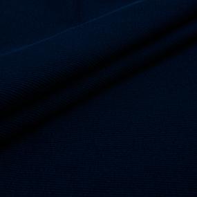Мерный лоскут кашкорсе с лайкрой 1812-1 цвет темно-синий 1 м фото