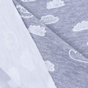 Ткань на отрез футер начес карде Облака R3141-V1 фото