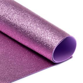 Фоамиран глиттерный 2 мм 20/30 см уп 10 шт MG.GLIT.H003 цвет розовый фото