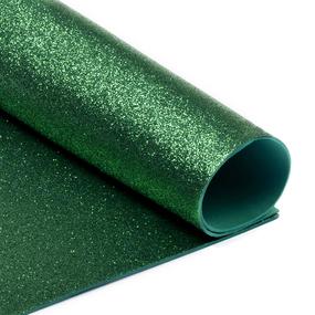 Фоамиран глиттерный 2 мм 20/30 см уп 10 шт MG.GLIT.H005 цвет зеленый фото