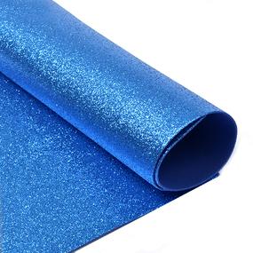 Фоамиран глиттерный 2 мм 20/30 см уп 10 шт MG.GLIT.H007 цвет синий фото