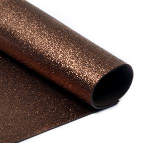 Фоамиран глиттерный 2 мм 20/30 см уп 10 шт MG.GLIT.H014 цвет коричневый фото