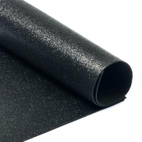 Фоамиран глиттерный 2 мм 20/30 см уп 10 шт MG.GLIT.H019 цвет черный фото