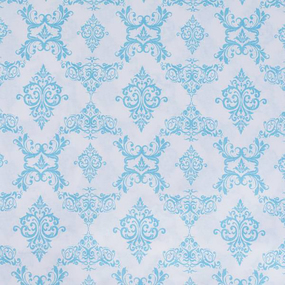 Бязь плательная б/з 150 см 8105/31 Дамаск цвет голубой фото