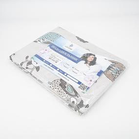 Пододеяльник поплин 28329/2 Совята серые основа Евро фото