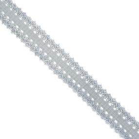 Резинка TBY бельевая (ажурная) 20мм RB04330S цвет S330 св.серый 1 метр фото