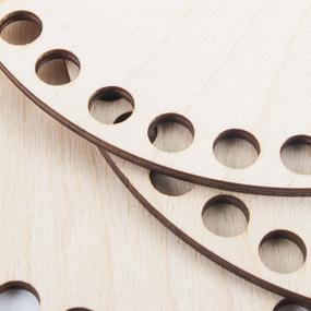 Деревянное донышко для корзин круг 30 см фото
