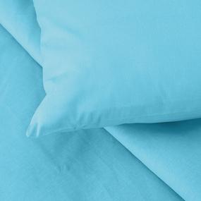 Постельное белье из бязи ГОСТ цвет бирюза 1.5 сп с 1-ой нав. 70/70 фото