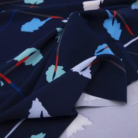 Ткань на отрез барби Кисточки на синем фото