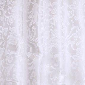 Мерный лоскут портьерная ткань 150 см 31 цвет белый вензель фото