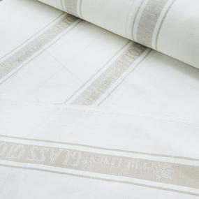 Мерный лоскут лен полоса цвет серый фото