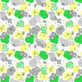 Фланель 90 см набивная арт 514 б/з Тейково рис 21221 вид 4 Звездные слоники фото